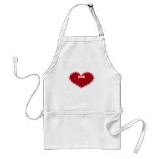 """Corazón del el día de San Valentín con el """"amor"""" c Delantal"""