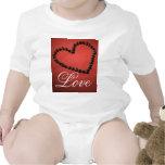 Corazón del el día de San Valentín del amor del Trajes De Bebé