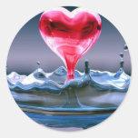 Corazón del el día de San Valentín Pegatinas Redondas