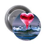 Corazón del el día de San Valentín Pin