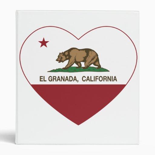 corazón del EL Granada de la bandera de California