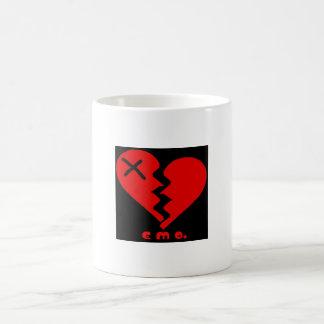 corazón del emo taza de café