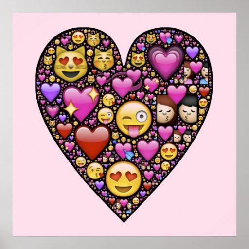 Corazón del Emoticon Poster