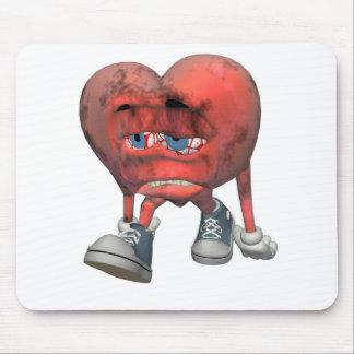 Corazón del enfermo del amor mousepads