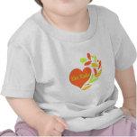 Corazón del equipo de radio-aficionado camiseta