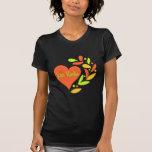 Corazón del equipo de radio-aficionado camisetas