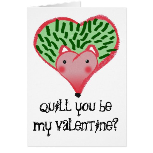 ¿Corazón del erizo, canilla usted sea mi tarjeta d