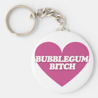 Corazón del estallido de Bubblegum Llavero Redondo Tipo Pin