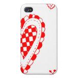 Corazón del estilo rural, pequeño diseño de las es iPhone 4 protectores
