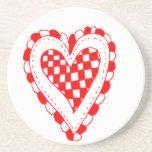 Corazón del estilo rural, pequeño diseño de las es posavasos manualidades