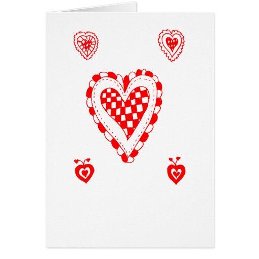 Corazón del estilo rural, pequeño diseño de las tarjeta de felicitación