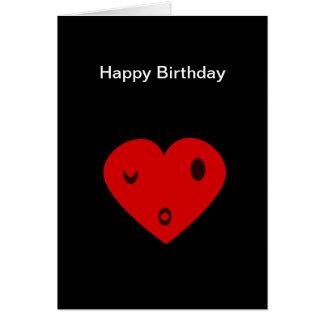 Corazón del feliz cumpleaños tarjeta de felicitación