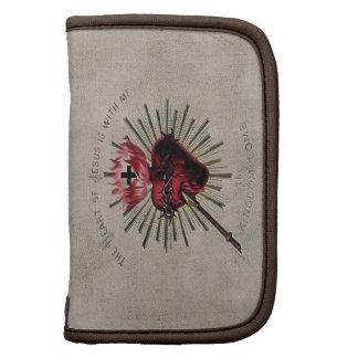Corazón del folio del carrito de Jesús Organizadores