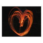 Corazón del fuego comunicado personalizado