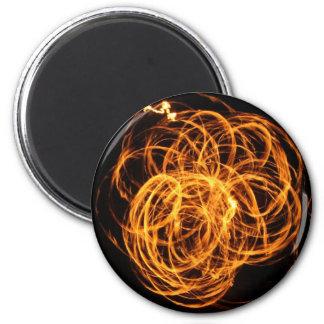 corazón del fuego imán redondo 5 cm