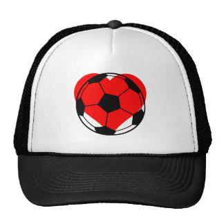 Corazón del fútbol gorro