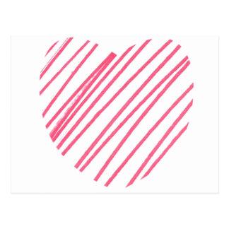 Corazón del garabato tarjeta postal