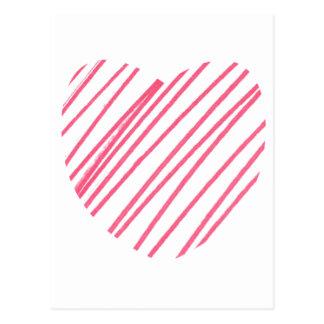 Corazón del garabato postales