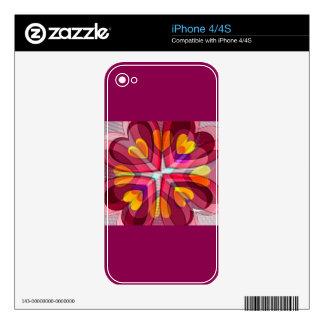 Corazón del girasol calcomanía para el iPhone 4