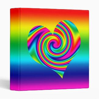 "Corazón del giro del arco iris carpeta 1"""