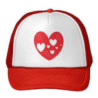 Corazón del gorra te amo