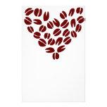 Corazón del grano de café  papeleria de diseño
