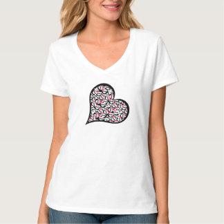 Corazón del Grunge de la camisa de las señoras de