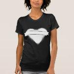 Corazón del Grunge en blanco Camiseta