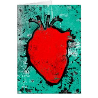 corazón del grunge tarjeta pequeña