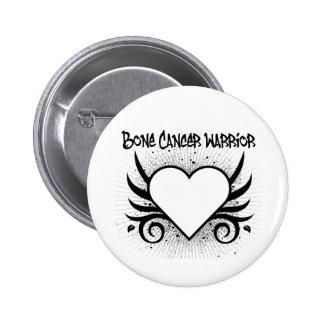 Corazón del guerrero del cáncer de hueso pin