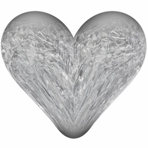 corazón del hielo escultura fotografica