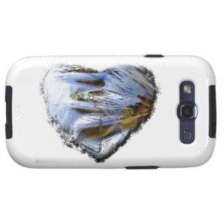Corazón del hielo; Ningún texto Samsung Galaxy S3 Coberturas