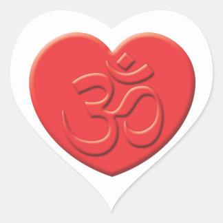 Corazón del Hinduism Pegatina En Forma De Corazón