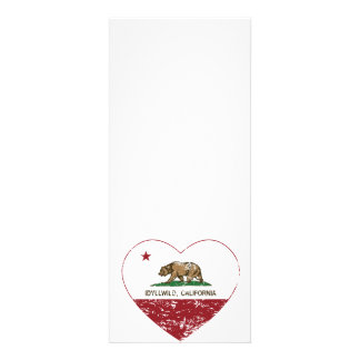 corazón del idyllwild de la bandera de California Invitación