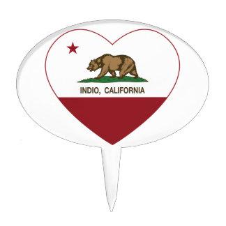 corazón del indio de la bandera de California Decoraciones Para Tartas