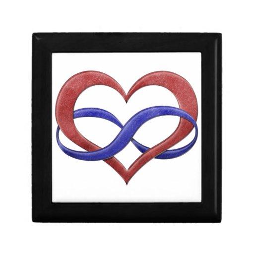 Corazón del infinito del orgullo de Polyamorous Cajas De Recuerdo
