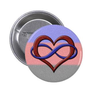 Corazón del infinito del orgullo de Polyamorous Pin
