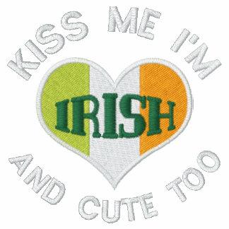 Corazón del irlandés del día de St Patrick Polo Bordado