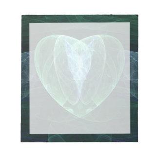 Corazón del jade blocs de papel