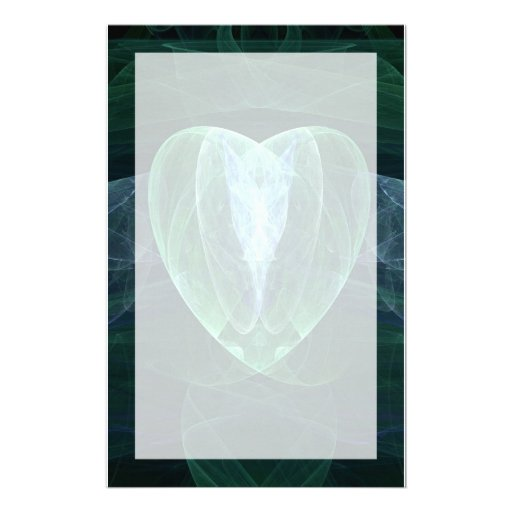 Corazón del jade papelería personalizada