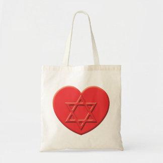 Corazón del judaísmo bolsas de mano