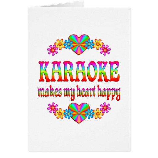 Corazón del Karaoke feliz Tarjeta De Felicitación