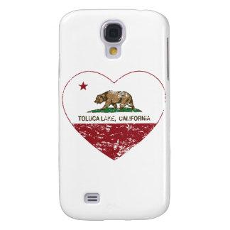 corazón del lago del toluca de la bandera de Calif Funda Para Galaxy S4
