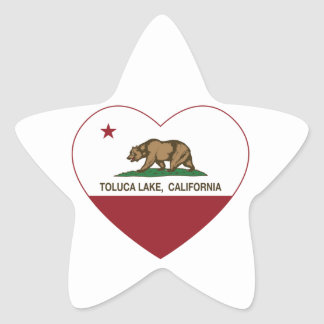 corazón del lago del toluca de la bandera de pegatina en forma de estrella