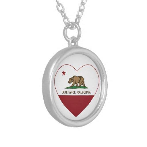 corazón del lago Tahoe de la bandera de California Grimpolas