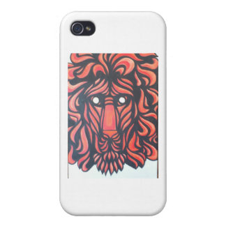 Corazón del león iPhone 4 cárcasas