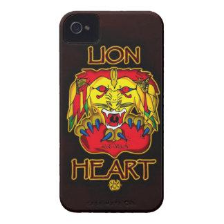 Corazón del león iPhone 4 funda