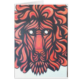Corazón del león tarjetón