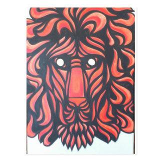 Corazón del león postal