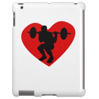 Corazón del levantamiento de pesas funda para iPad
